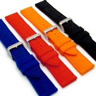 Croc Pattern Silicone Watch Strap  18mm - 24mm C033